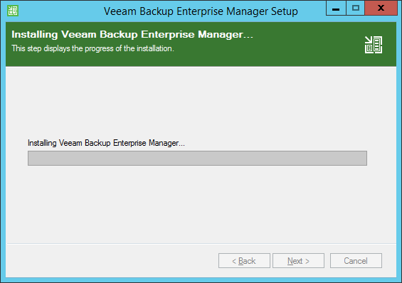 Enterprise Manager installation begin