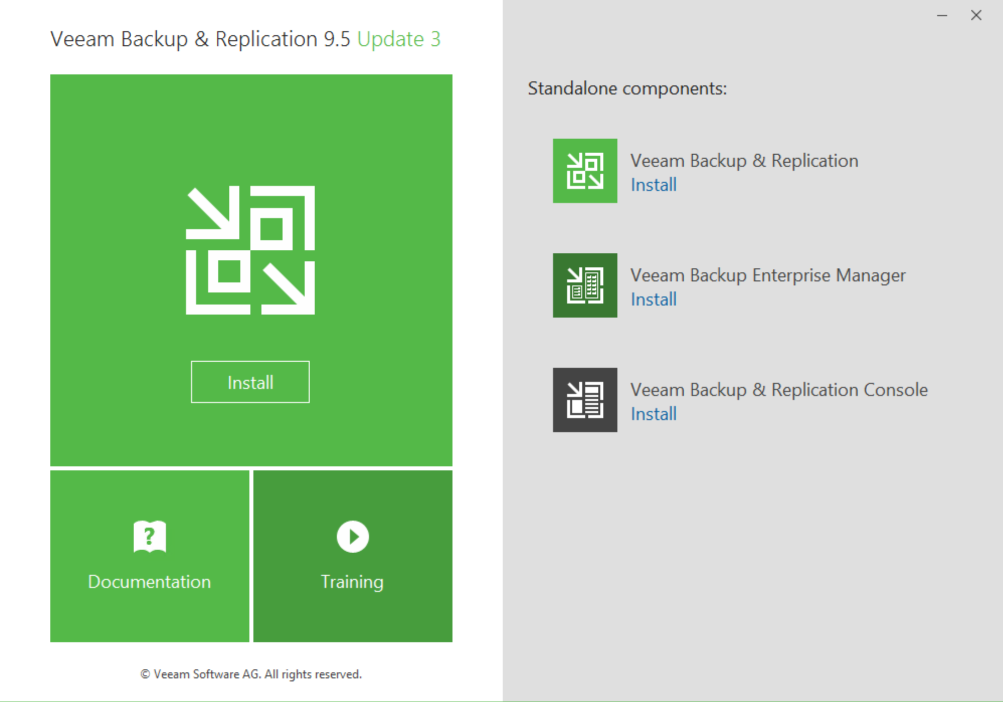 Launch Installation of Veeam