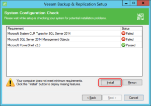 Install Veeam Backup & Replication 9.5