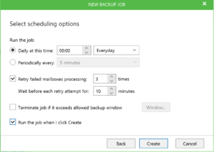 Configure Backup Veeam Office 365