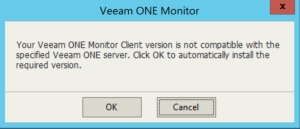 Install required version of Veeam One