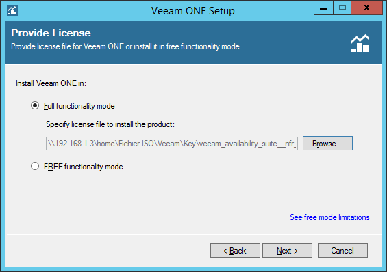 Install licence for Veeam One