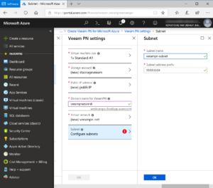 Validate network configuration for Veeam PN