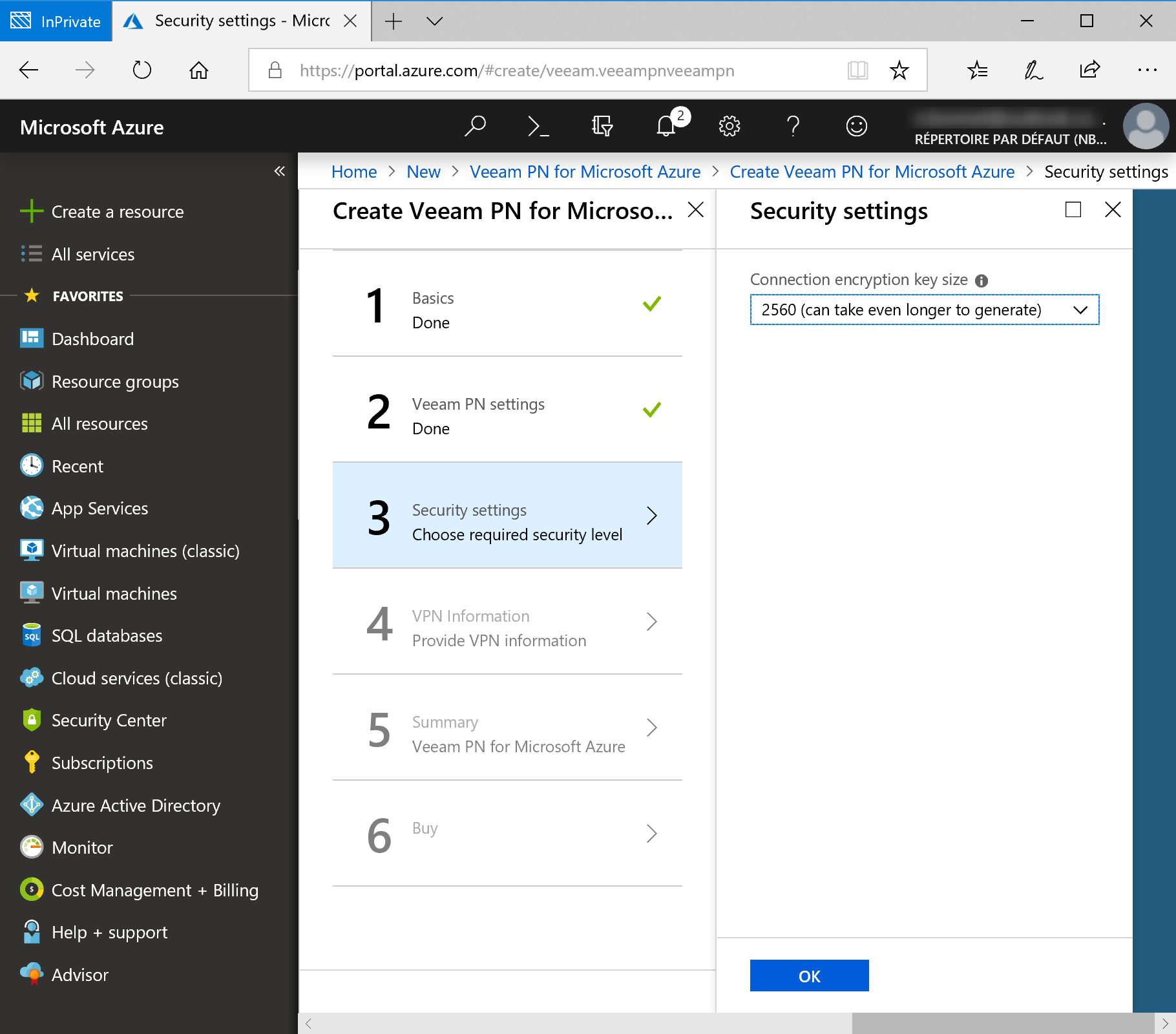 Configure Security Settings for Veeam PN