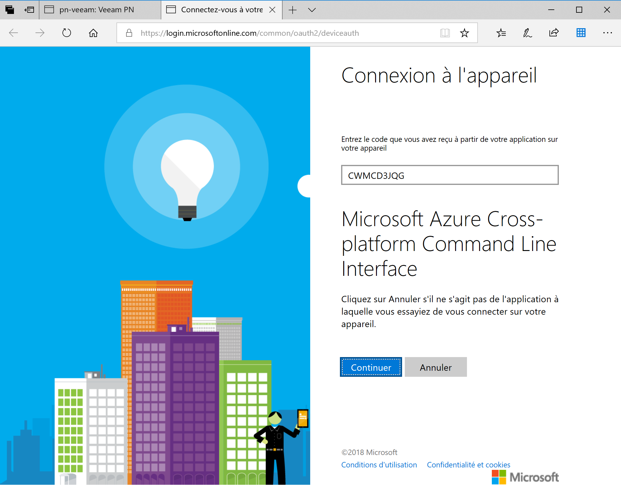Connect to the Azure Portal Veeam PN