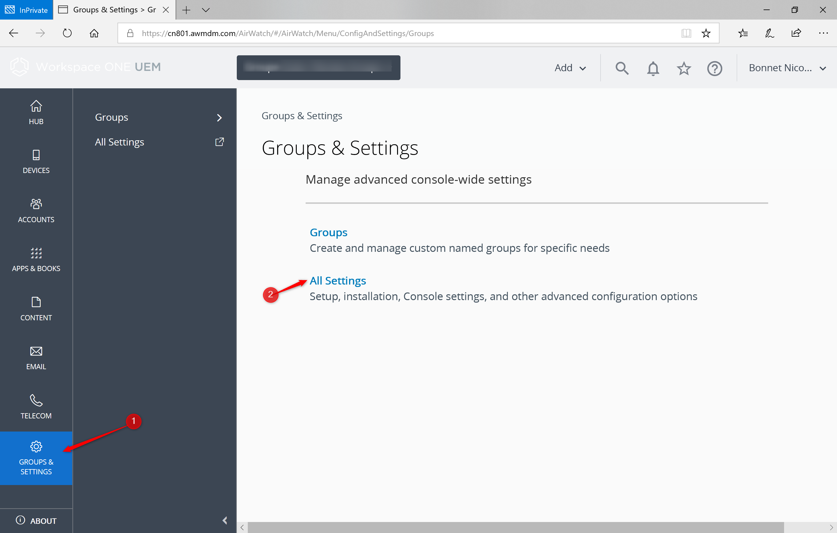 Configure Airwatch groups Certificate for IOS device