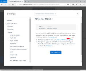 Download MDM APNs Request