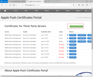 Certificate for IOS device