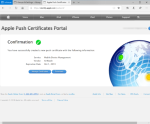 Download certificate
