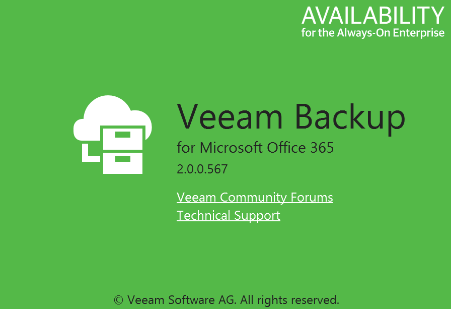 Version of Veeam Backup for Office 365 Cumulative patch KB2765