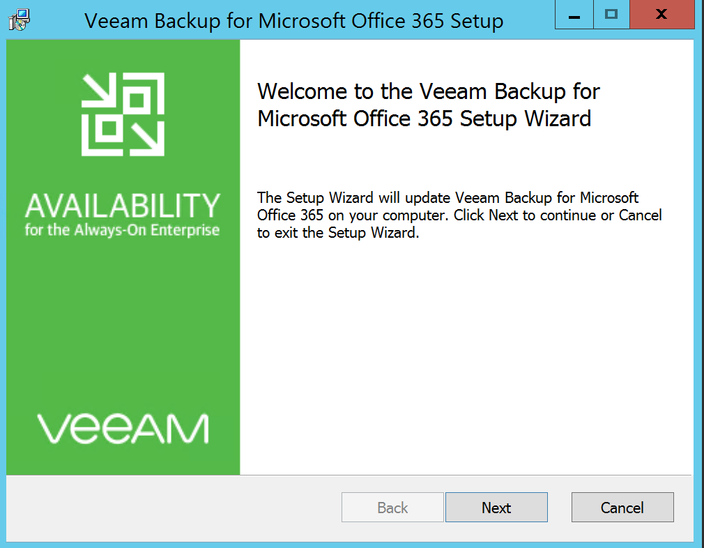 wizard to fix problem veeam