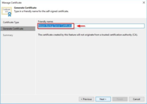 Generate Veeam certificate 1