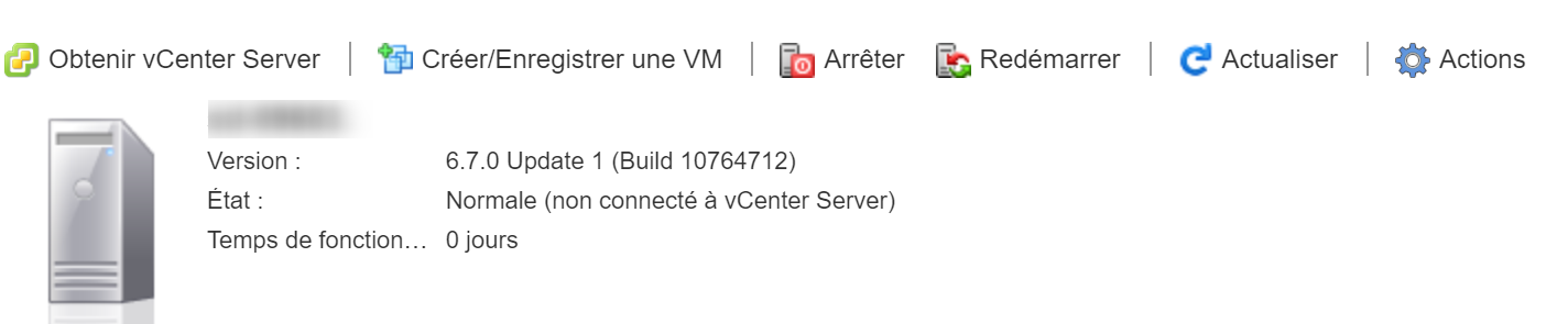Verify the version of your ESXi