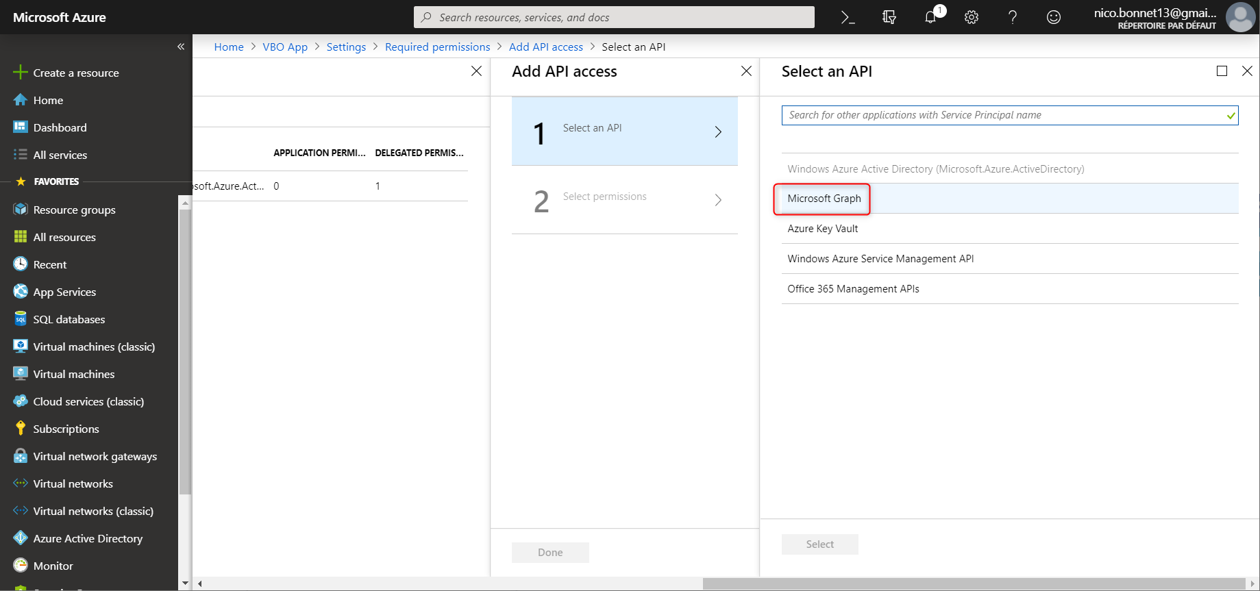 Select API for Veeam APP Modern Authentification on VBO 3