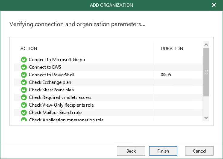 Verification before add Office 365 organisation