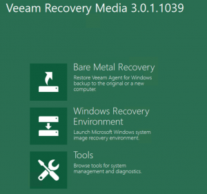 Select Bare Metal Recovery