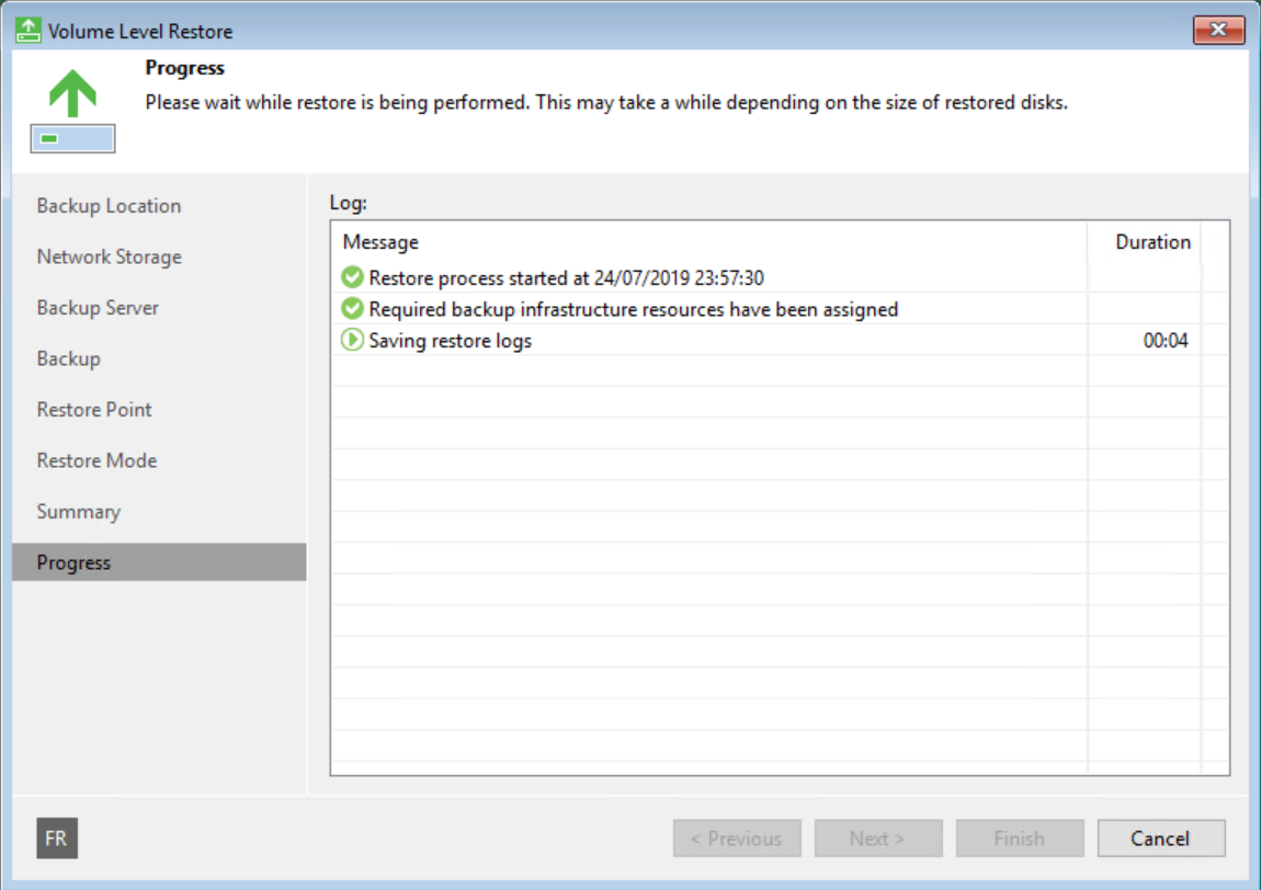 Restore Server with Veeam