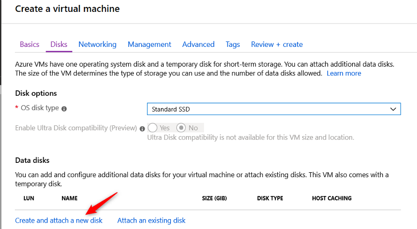 Add an other disk on the VM Cloud Connect for Enterprise