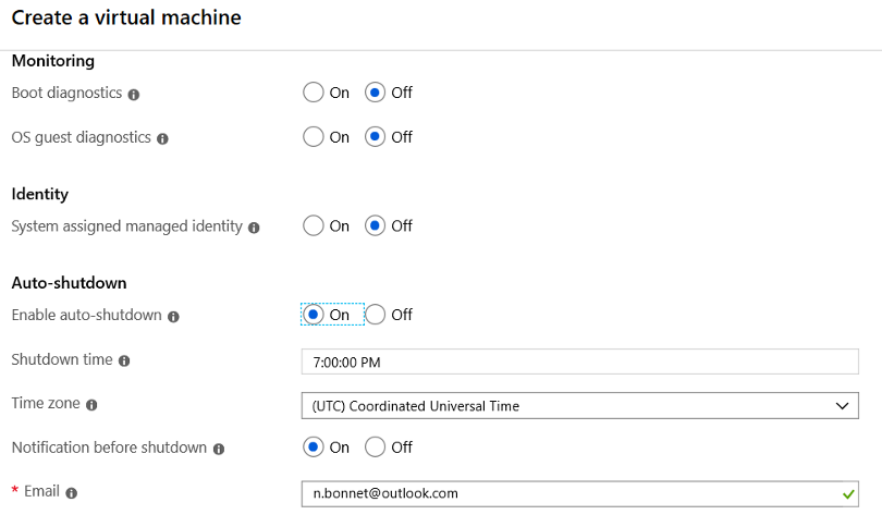 Create Azure Virtual Machine Cloud Connect for Enterprise