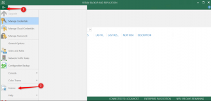 Veeam console for install licence