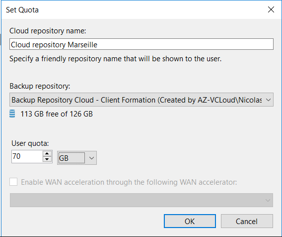 Choose the backup repository