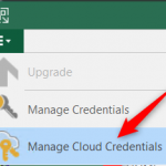 Manage Cloud Credentials