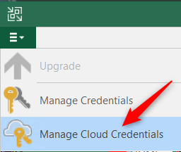 Manage Cloud Credentials Cloud Connect for Enterprise