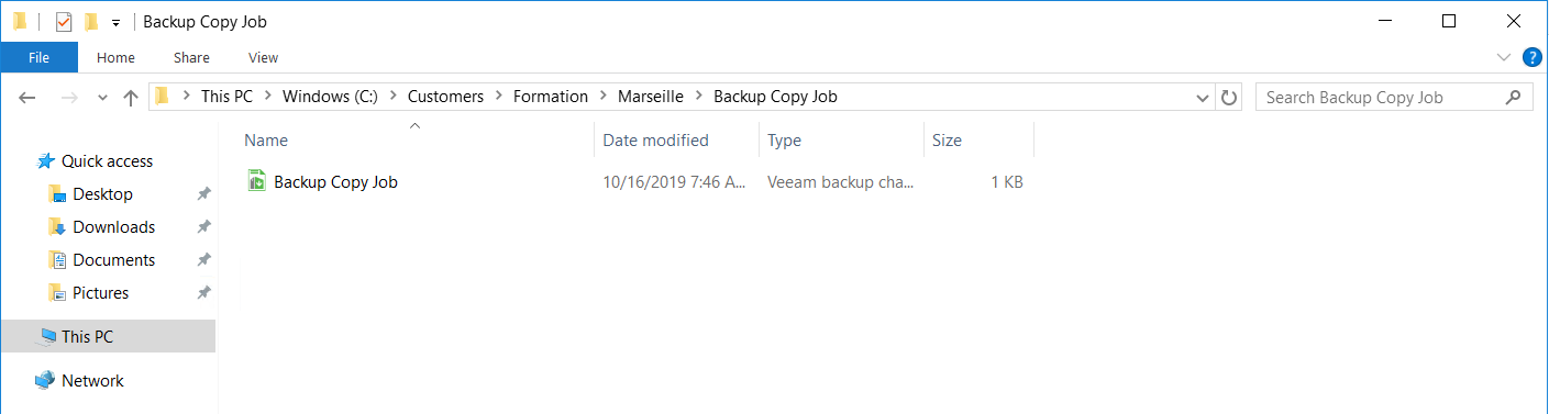 File are present on the Cloud Connect Server