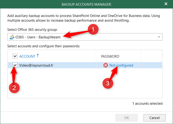Configure password for Veeam for O365 4.0