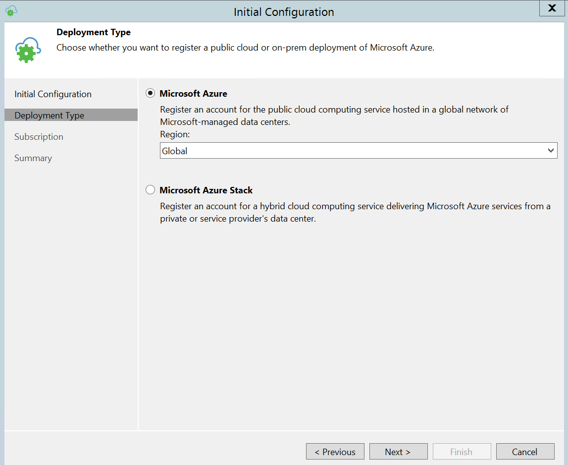 Create Cloud credential on Veeam console