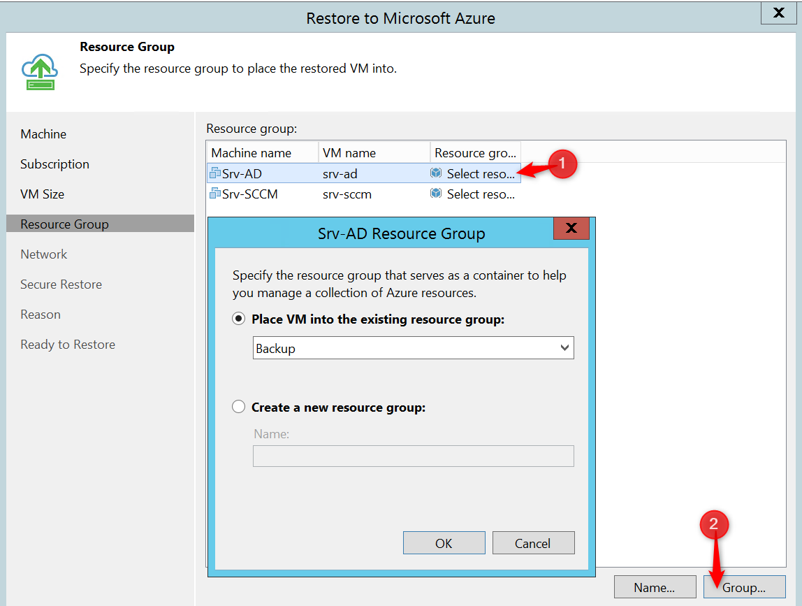 Configure Resource group