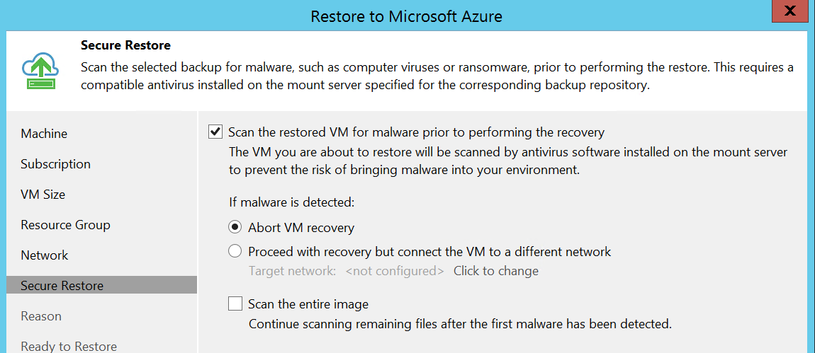 Configure Scan for malware
